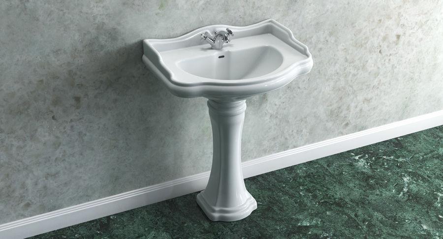 Classic Pedestal Bathroom Sink 3d Model 29 Max Obj Ma Fbx C4d 3ds Free3d