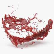 Blood splash 3d model