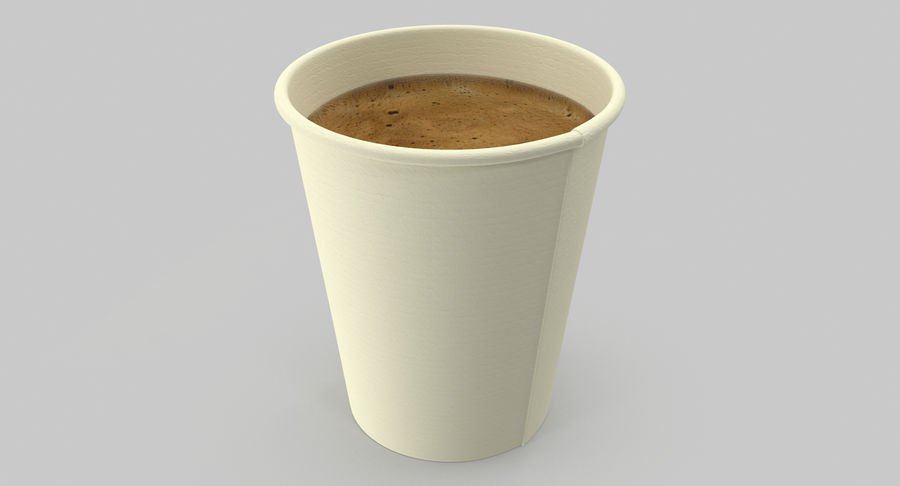 Papieren koffiekopje royalty-free 3d model - Preview no. 9