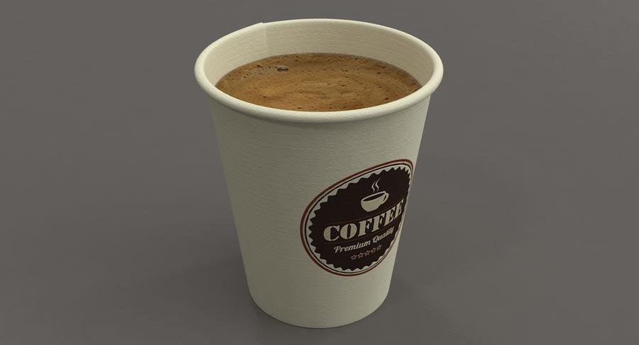 Papieren koffiekopje royalty-free 3d model - Preview no. 3
