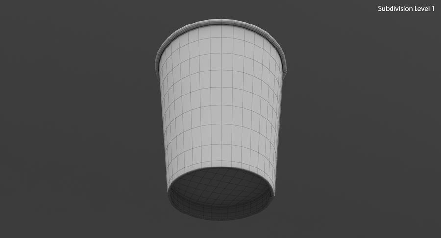 Papieren koffiekopje royalty-free 3d model - Preview no. 22