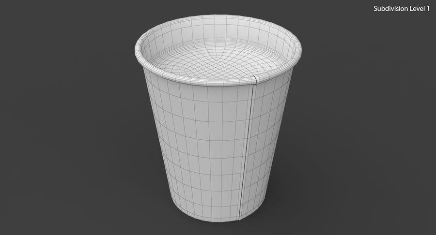 Papieren koffiekopje royalty-free 3d model - Preview no. 19