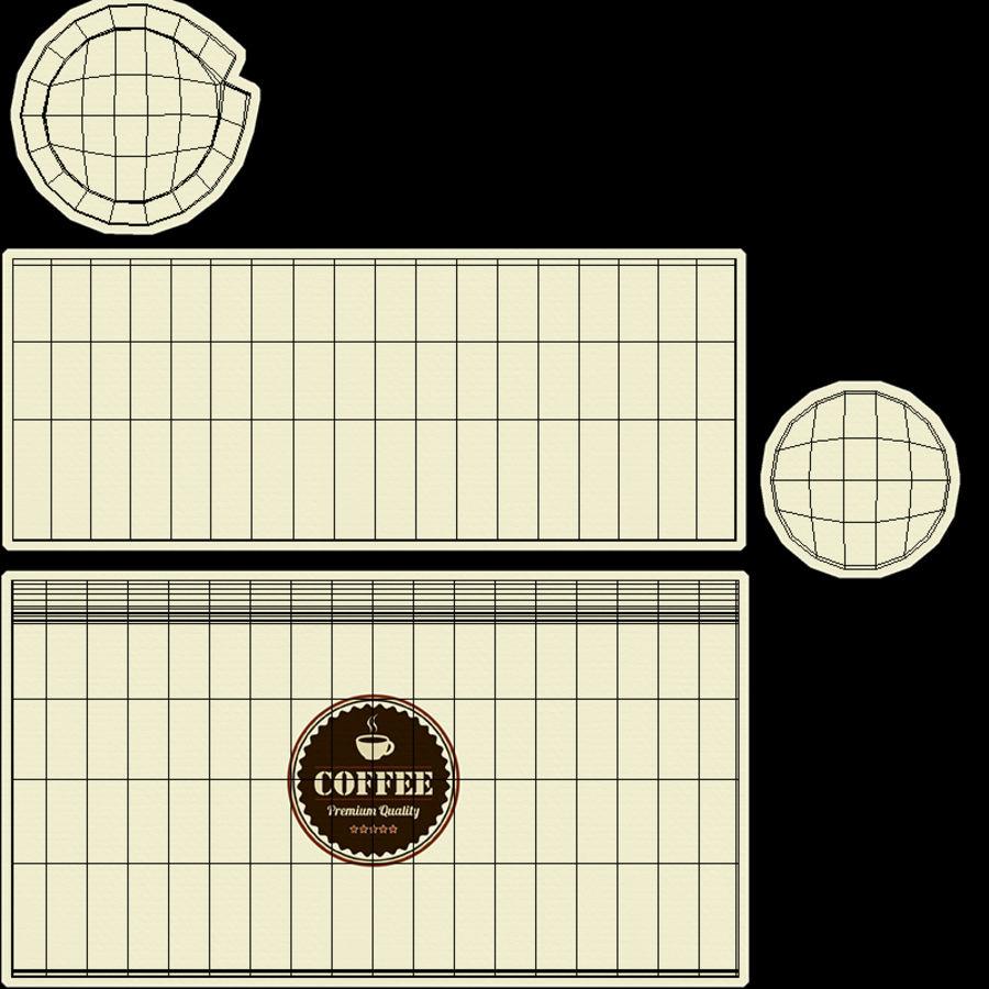 Papieren koffiekopje royalty-free 3d model - Preview no. 23
