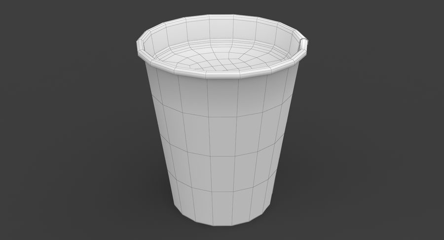 Papieren koffiekopje royalty-free 3d model - Preview no. 16