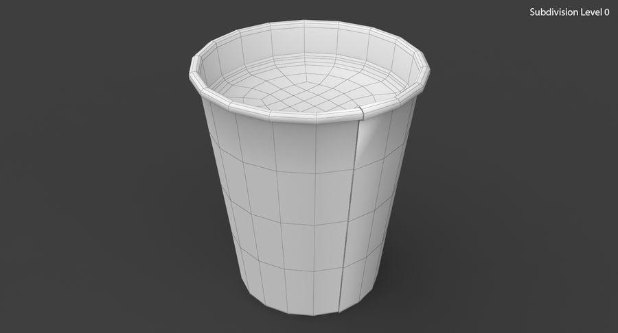 Papieren koffiekopje royalty-free 3d model - Preview no. 18