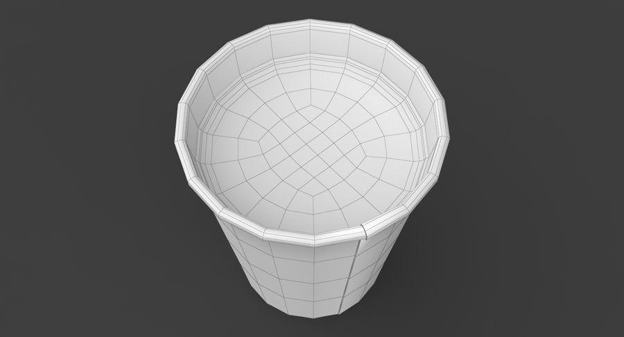 Papieren koffiekopje royalty-free 3d model - Preview no. 20