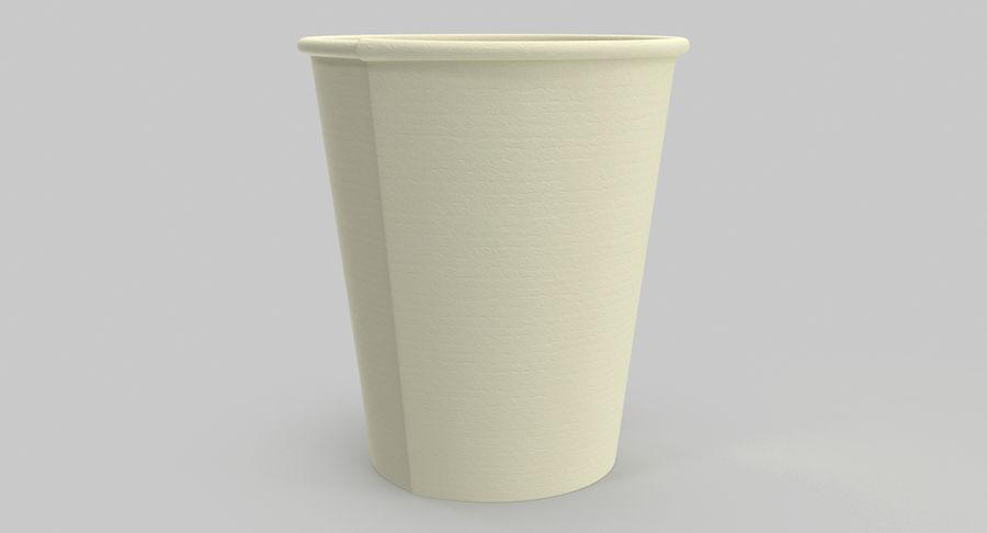 Papieren koffiekopje royalty-free 3d model - Preview no. 11