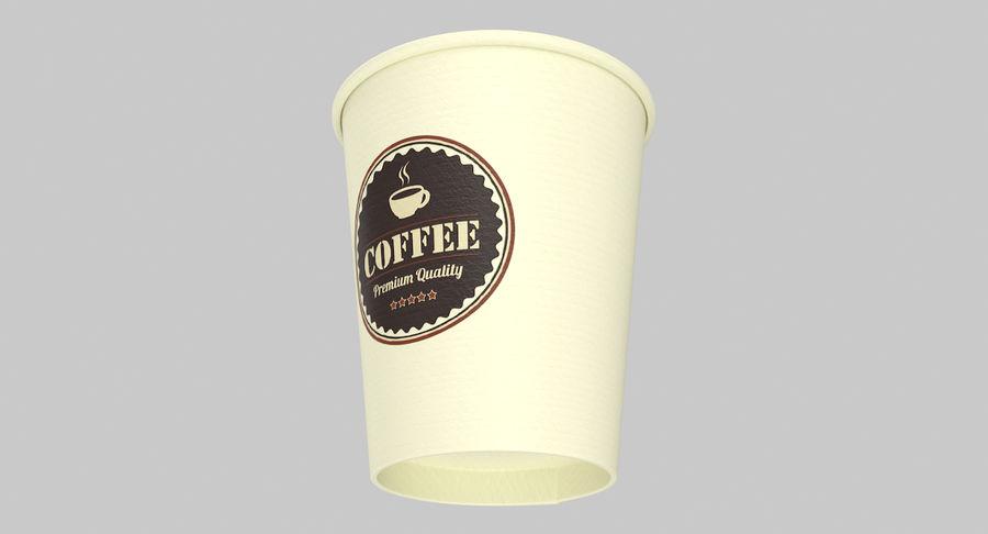 Papieren koffiekopje royalty-free 3d model - Preview no. 14