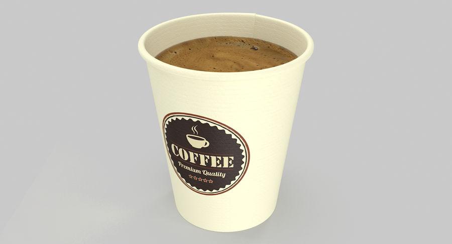 Papieren koffiekopje royalty-free 3d model - Preview no. 6