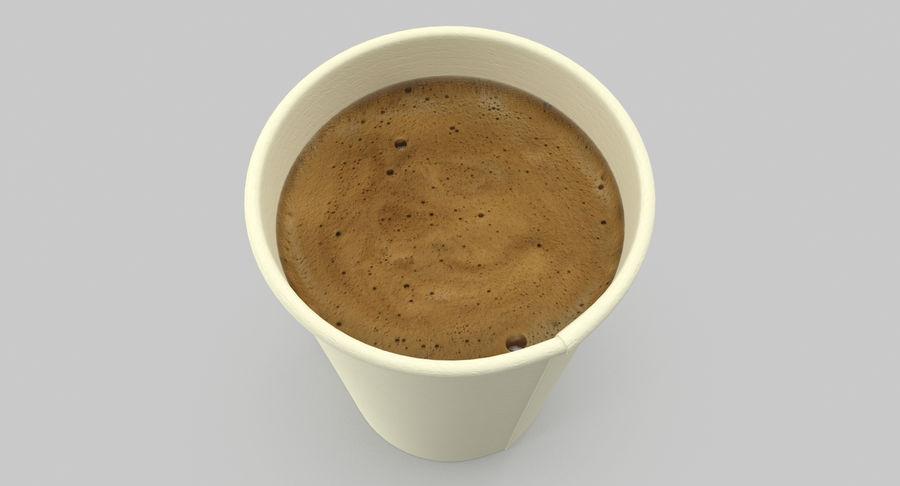 Papieren koffiekopje royalty-free 3d model - Preview no. 8