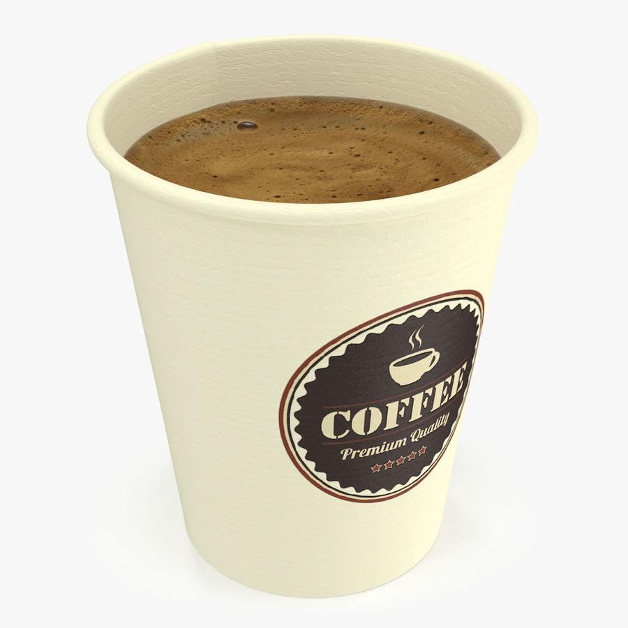 Papieren koffiekopje royalty-free 3d model - Preview no. 1