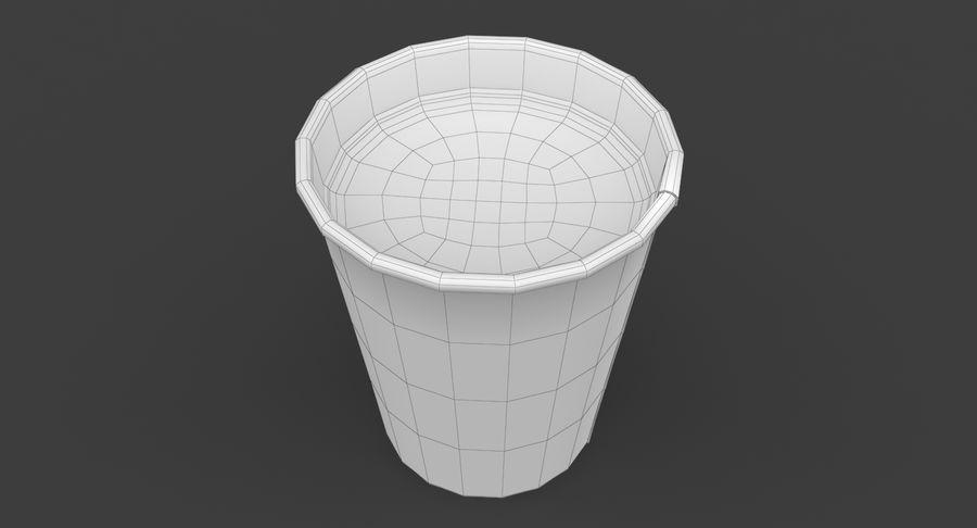 Papieren koffiekopje royalty-free 3d model - Preview no. 17
