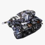 Cartoon Panzer III Winter 3d model