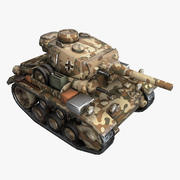 Cartoon Tank Panzer III Camoflage 3d model