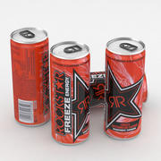 Beverage Can Rockstar Freeze Energy Drink 250ml 3d model
