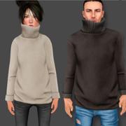 TN Sweater männlich und weiblich 3d model