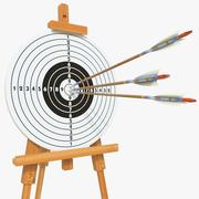 Target With Arrows 04 3d model