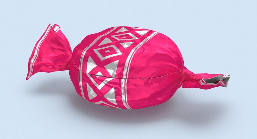 Padrão de doces duros rosa royalty-free 3d model - Preview no. 3