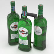 Butelka Martini Extra Dry 1L 3d model