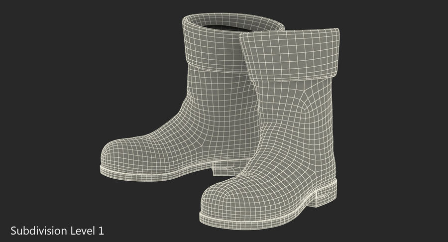 Old Leather Boots royalty-free 3d model - Preview no. 9