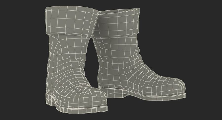 Old Leather Boots royalty-free 3d model - Preview no. 16