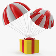 Twin Parachute Gift Box 3D-model 3d model