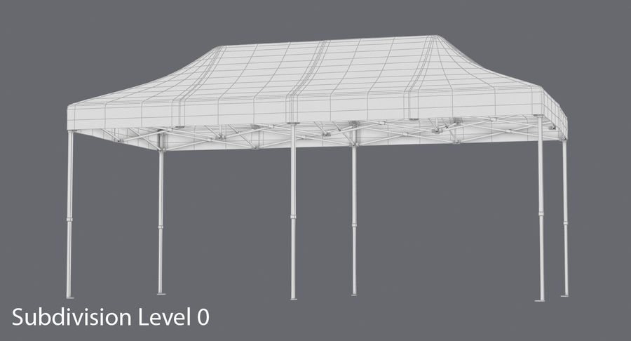 10x20 Tent 01 royalty-free 3d model - Preview no. 16