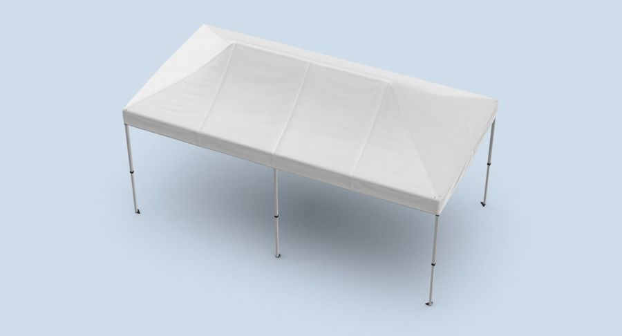 10x20 Tent 01 royalty-free 3d model - Preview no. 7