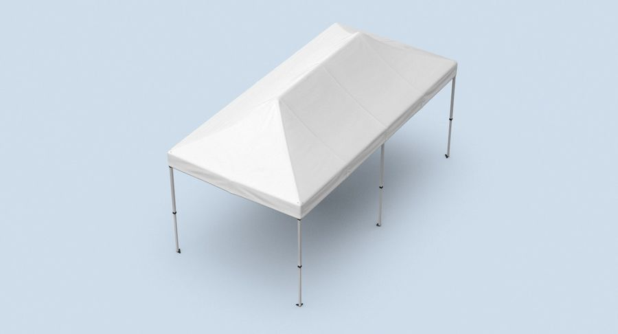 10x20 Tent 01 royalty-free 3d model - Preview no. 4