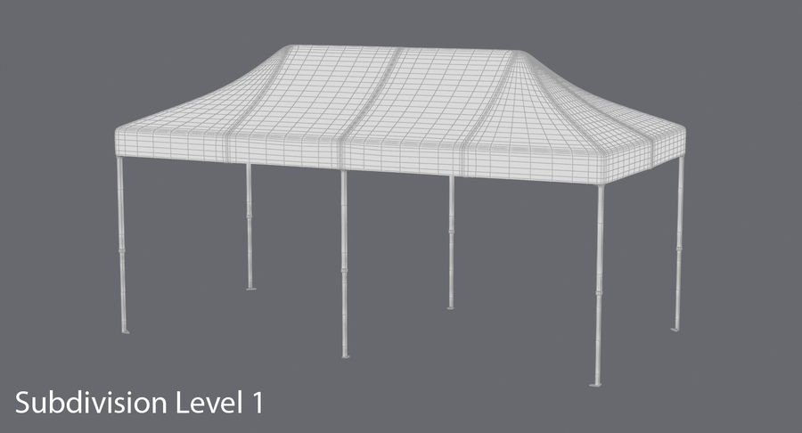 10x20 Tent 01 royalty-free 3d model - Preview no. 17