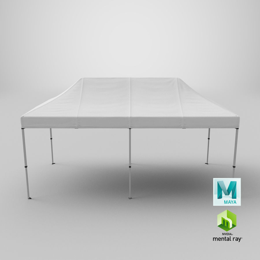 10x20 Tent 01 royalty-free 3d model - Preview no. 22