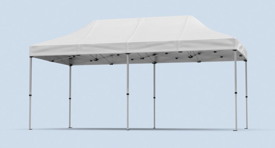 10x20 Tent 01 royalty-free 3d model - Preview no. 6