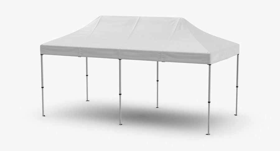 10x20 Tent 01 royalty-free 3d model - Preview no. 2