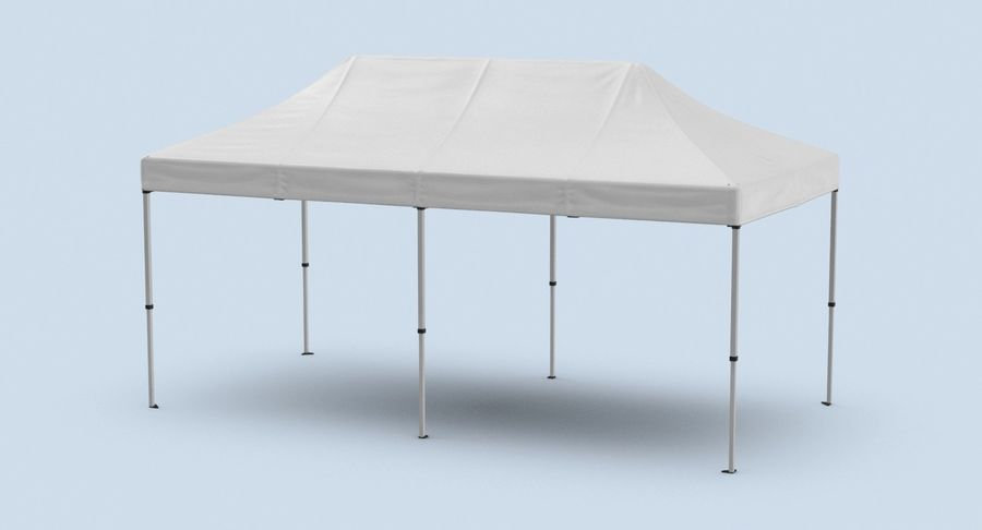 10x20 Tent 01 royalty-free 3d model - Preview no. 3