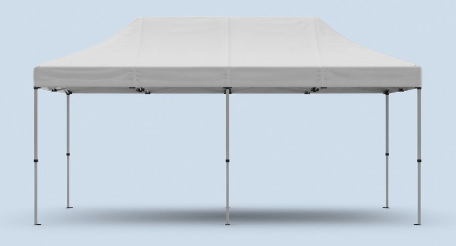 10x20 Tent 01 royalty-free 3d model - Preview no. 8