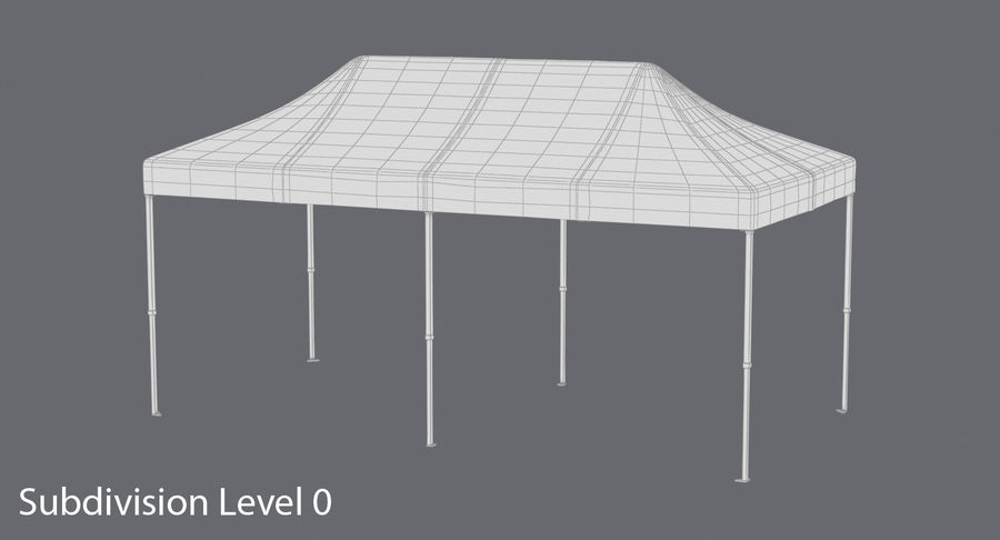 10x20 Tent 01 royalty-free 3d model - Preview no. 14