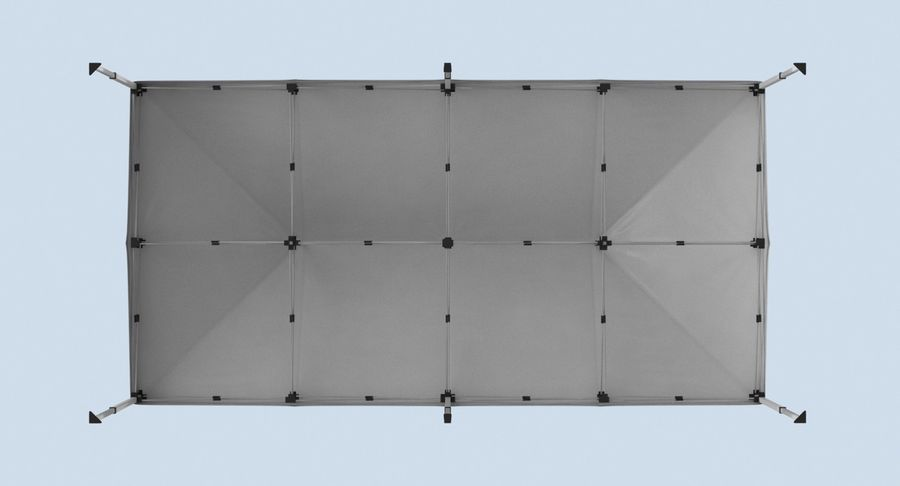 10x20 Tent 01 royalty-free 3d model - Preview no. 13