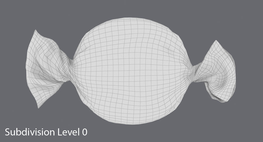 Doces Duros Laranja royalty-free 3d model - Preview no. 13