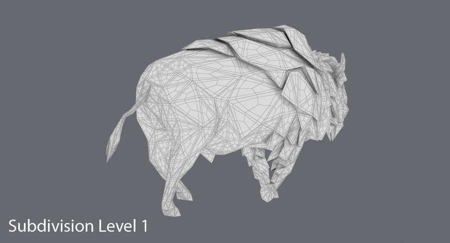 Buffalo uitgevoerd royalty-free 3d model - Preview no. 17