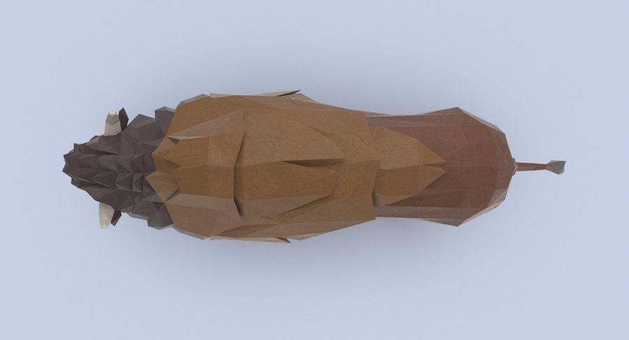 Buffalo uitgevoerd royalty-free 3d model - Preview no. 5