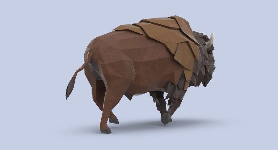 Buffalo uitgevoerd royalty-free 3d model - Preview no. 6