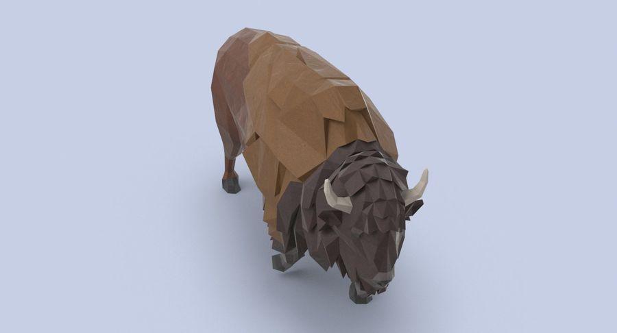 Buffalo uitgevoerd royalty-free 3d model - Preview no. 4