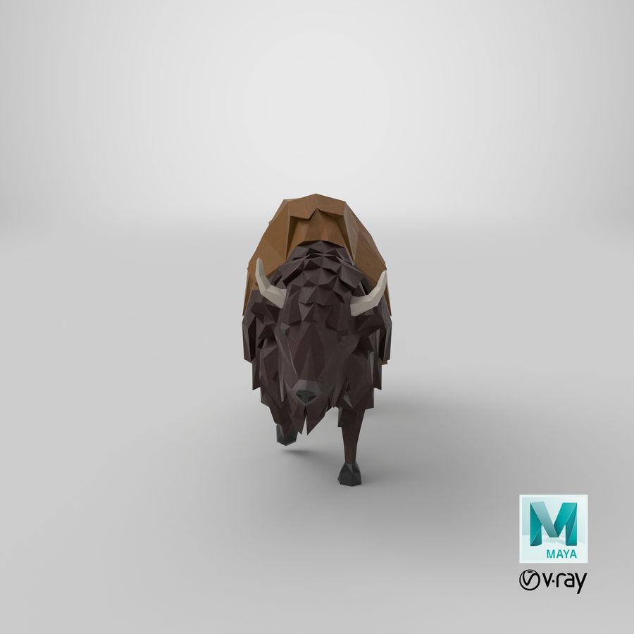 Buffalo uitgevoerd royalty-free 3d model - Preview no. 19