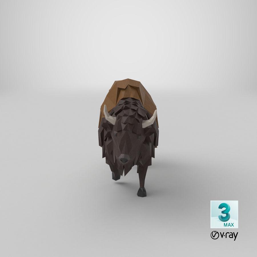 Buffalo uitgevoerd royalty-free 3d model - Preview no. 21