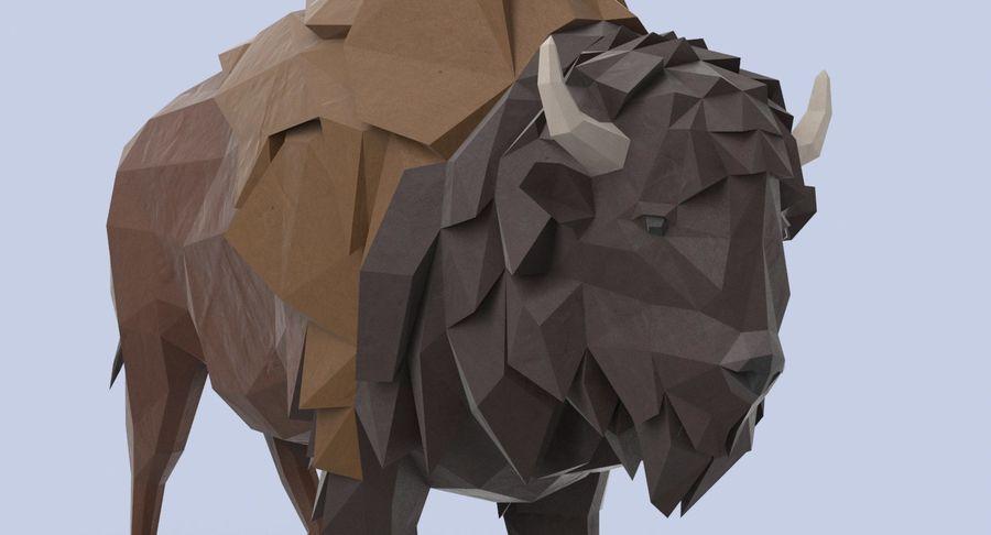 Buffalo uitgevoerd royalty-free 3d model - Preview no. 8