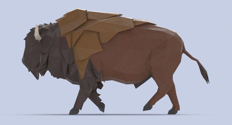 Buffalo uitgevoerd royalty-free 3d model - Preview no. 7