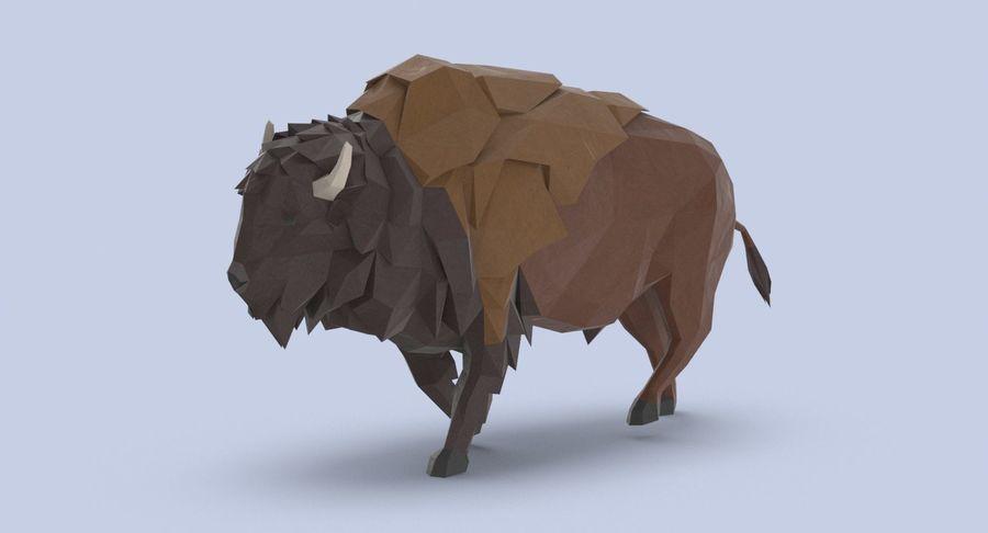 Buffalo uitgevoerd royalty-free 3d model - Preview no. 3