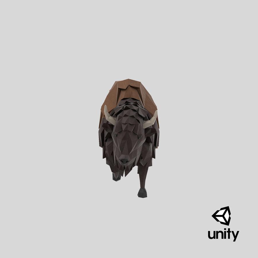 Buffalo uitgevoerd royalty-free 3d model - Preview no. 23