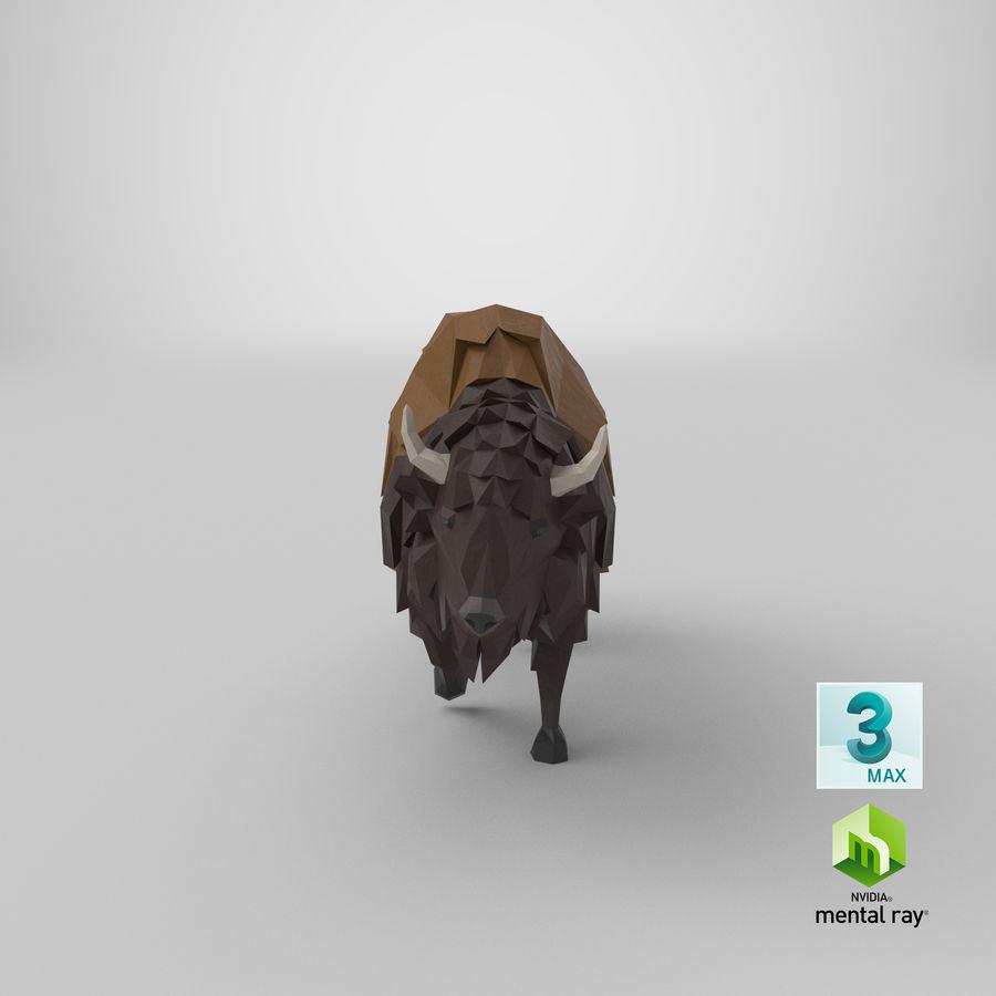 Buffalo uitgevoerd royalty-free 3d model - Preview no. 1