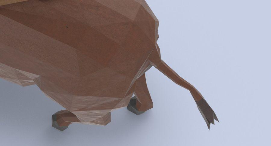 Buffalo uitgevoerd royalty-free 3d model - Preview no. 9